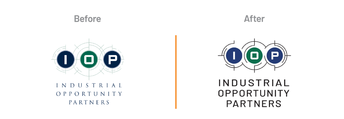 IOP Logo Before & After